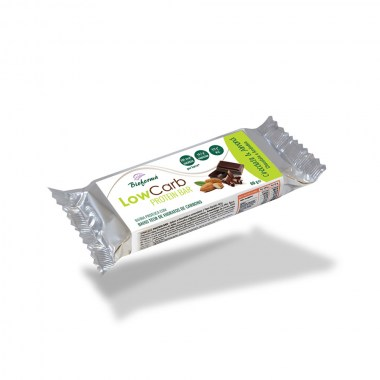 Barra Low Carb & Protein Chocolate e amêndoa 60g BIOFORMA