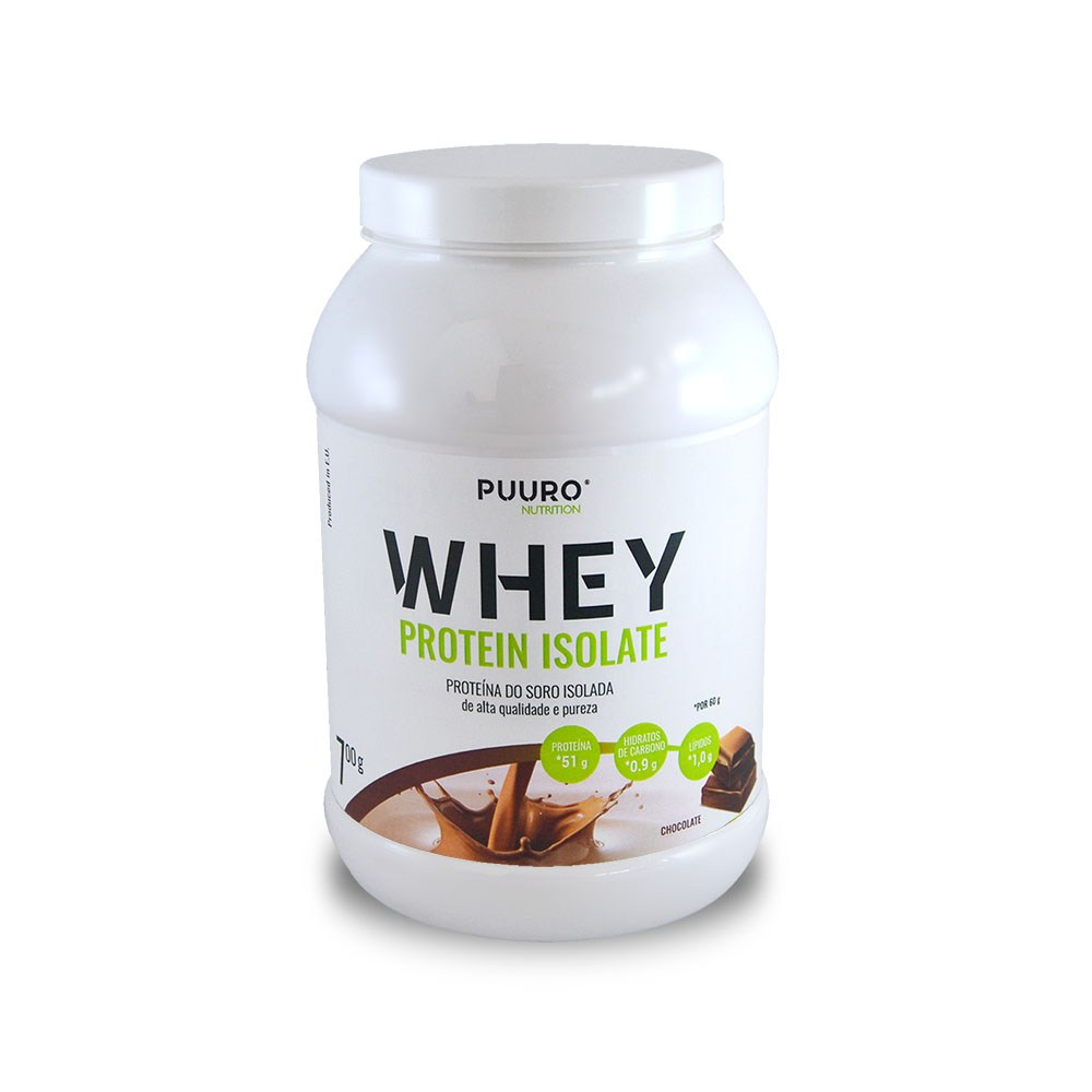 WHEY Protein Isolate Chocolate 700g PUURO NUTRITION